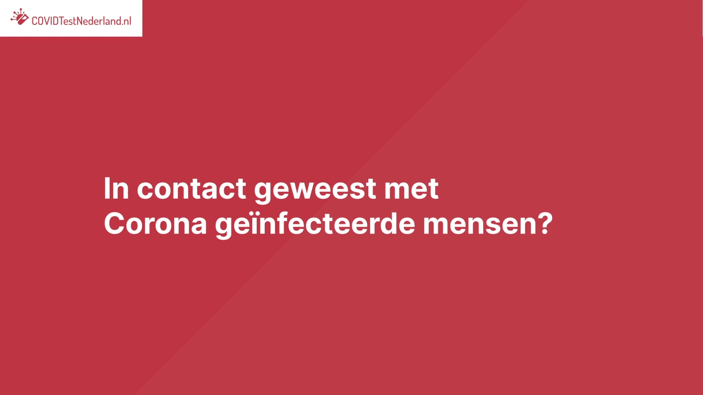 corona sneltest Maasvlakte Rotterdam teststraat